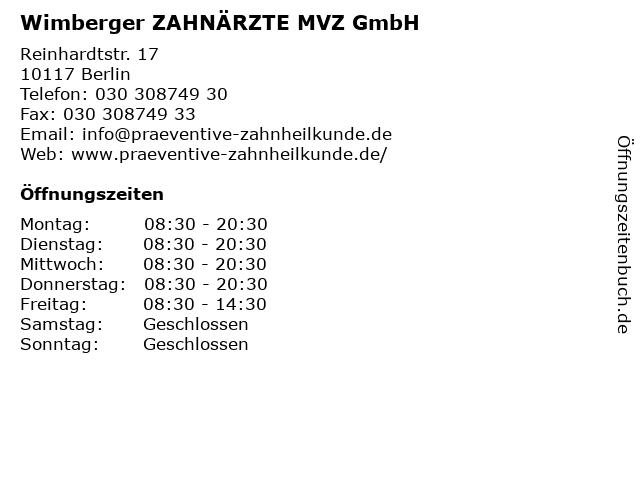 Ralf Wimberger Zahnarzt in Berlin: Adresse und Öffnungszeiten