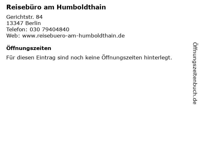 Reisebüro am Humboldthain in Berlin: Adresse und Öffnungszeiten