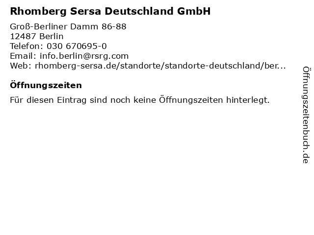 Rhomberg Sersa Deutschland GmbH in Berlin: Adresse und Öffnungszeiten