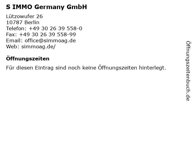 S IMMO Germany GmbH in Berlin: Adresse und Öffnungszeiten