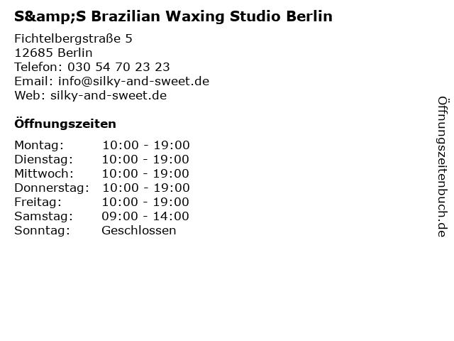 S&S Brazilian Waxing Studio Berlin in Berlin: Adresse und Öffnungszeiten
