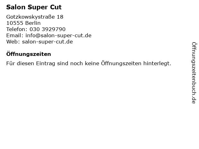 Salon Super Cut in Berlin: Adresse und Öffnungszeiten