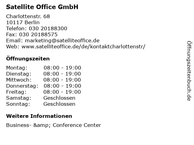 Satellite Office GmbH in Berlin: Adresse und Öffnungszeiten