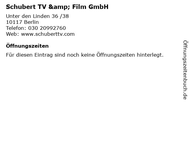 Schubert TV & Film GmbH in Berlin: Adresse und Öffnungszeiten