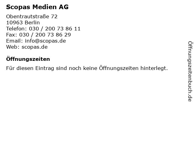Scopas Medien AG in Berlin: Adresse und Öffnungszeiten
