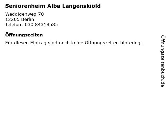 Seniorenheim Alba Langenskiöld in Berlin: Adresse und Öffnungszeiten