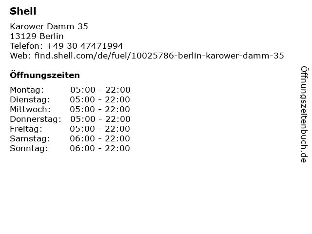 Shell Station in Berlin: Adresse und Öffnungszeiten