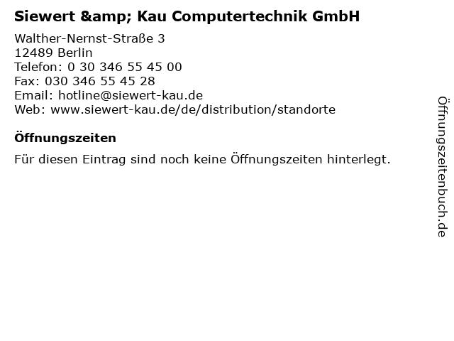 Siewert & Kau Computertechnik GmbH in Berlin: Adresse und Öffnungszeiten