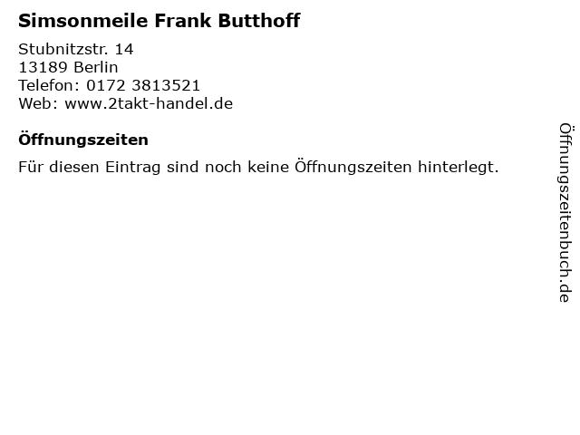 Simsonmeile Frank Butthoff in Berlin: Adresse und Öffnungszeiten