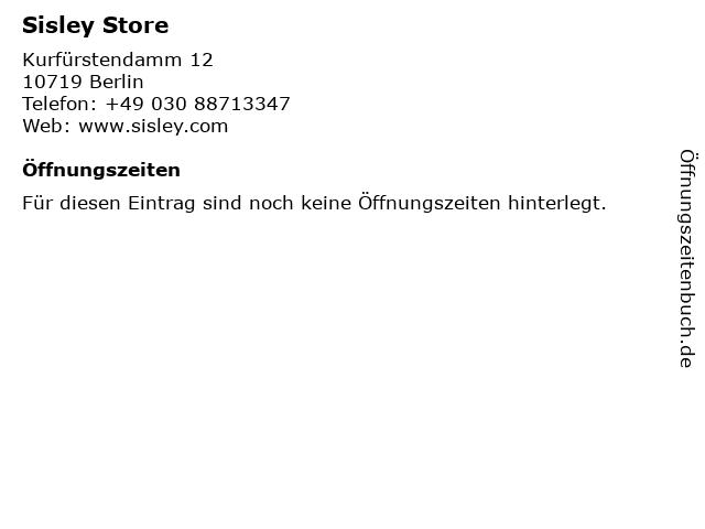 Sisley Store in Berlin: Adresse und Öffnungszeiten