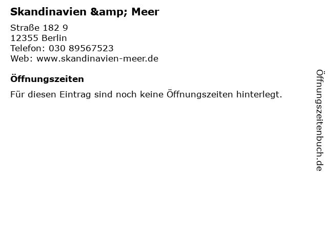 Skandinavien & Meer in Berlin: Adresse und Öffnungszeiten