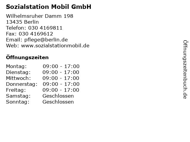 Sozialstation Mobil GmbH in Berlin: Adresse und Öffnungszeiten