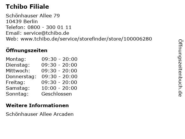Tchibo Filiale mit Kaffee Bar in Berlin: Adresse und Öffnungszeiten