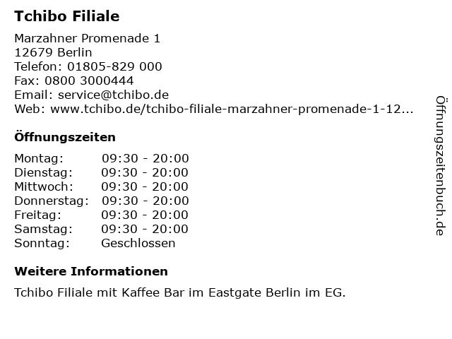 Tchibo Filiale in Berlin: Adresse und Öffnungszeiten