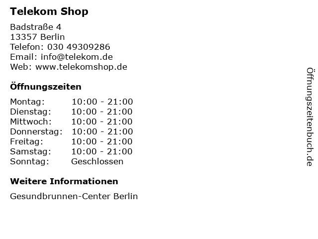 Telekom Shop in Berlin: Adresse und Öffnungszeiten