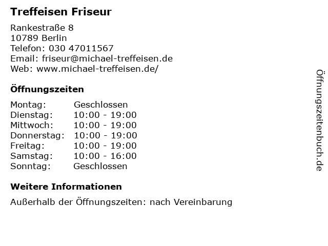 Treffeisen Friseur in Berlin: Adresse und Öffnungszeiten