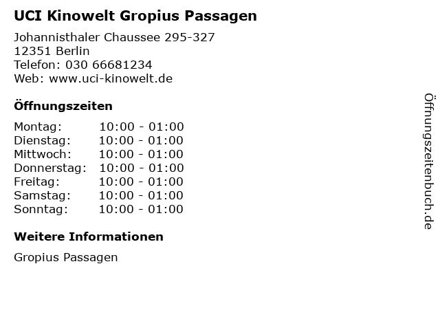 Uci Kinowelt Gropius Passagen Preise
