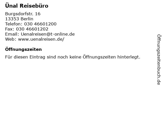 Ünal Reisebüro in Berlin: Adresse und Öffnungszeiten