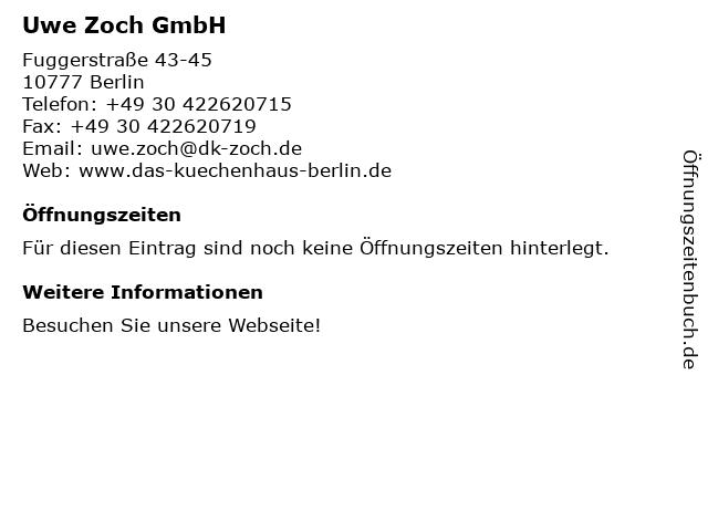 ᐅ Offnungszeiten Das Kuchenhaus Uwe Zoch Fuggerstrasse 43 45 In