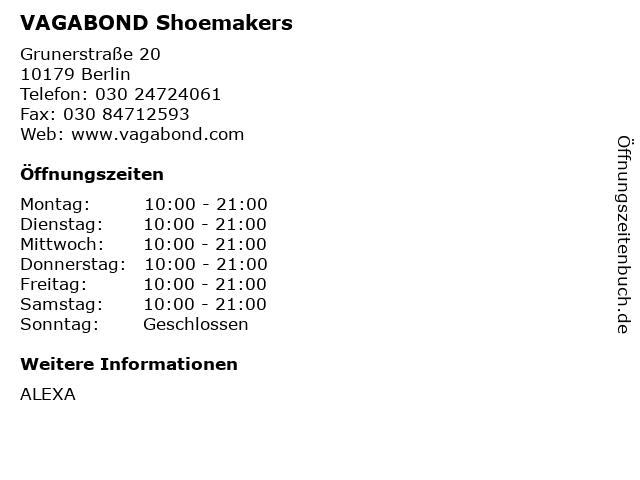 VAGABOND Shoemakers in Berlin: Adresse und Öffnungszeiten