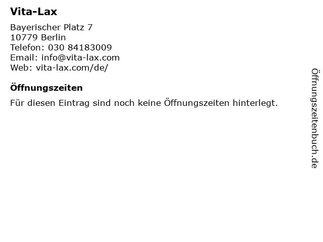 Vita-Lax - Bayerischer Platz in Berlin: Adresse und Öffnungszeiten