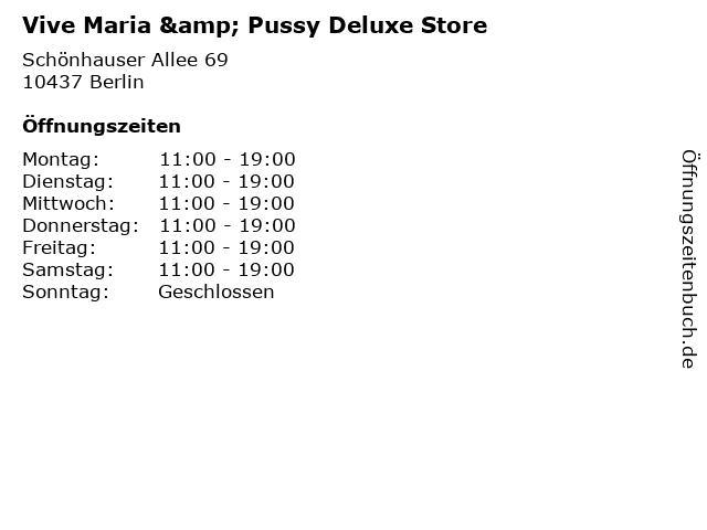Vive Maria & Pussy Deluxe Store in Berlin: Adresse und Öffnungszeiten