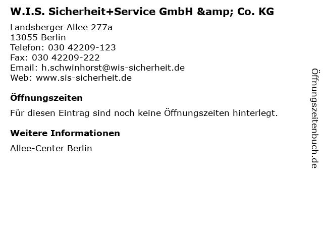 W.I.S. Sicherheit+Service GmbH & Co. KG in Berlin: Adresse und Öffnungszeiten