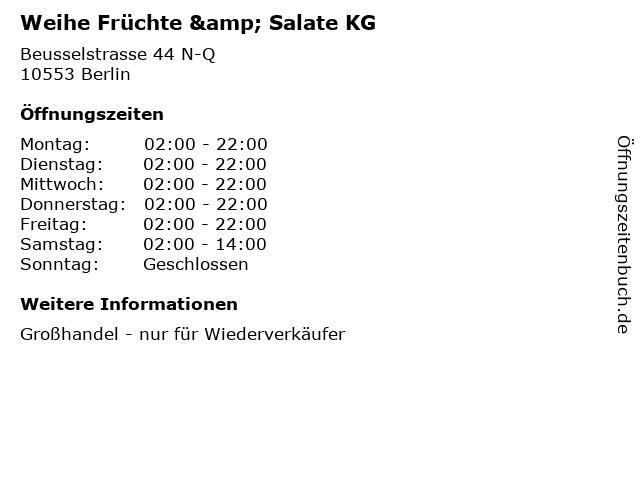 Weihe Früchte & Salate KG in Berlin: Adresse und Öffnungszeiten