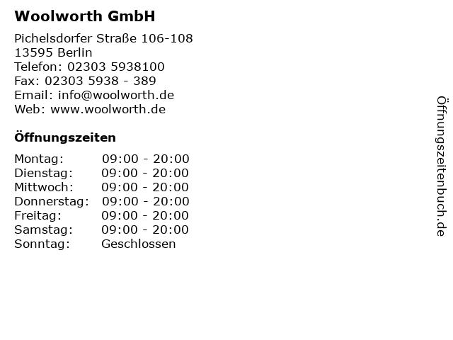 Woolworth GmbH in Berlin: Adresse und Öffnungszeiten
