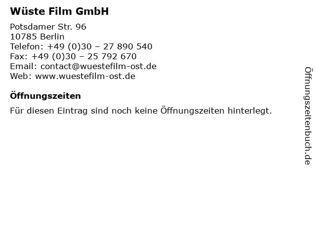 Wüste Film GmbH in Berlin: Adresse und Öffnungszeiten