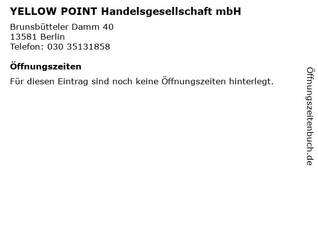 YELLOW POINT Handelsgesellschaft mbH in Berlin: Adresse und Öffnungszeiten