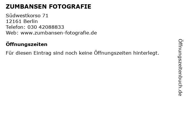 ZUMBANSEN FOTOGRAFIE in Berlin: Adresse und Öffnungszeiten