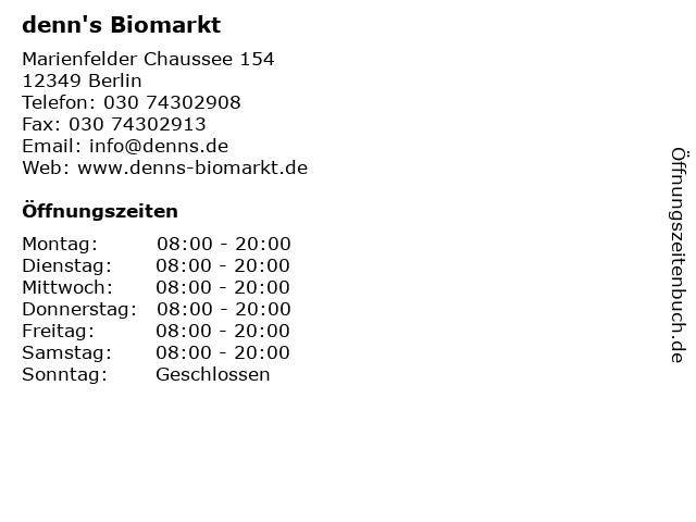 denn's Biomarkt in Berlin: Adresse und Öffnungszeiten