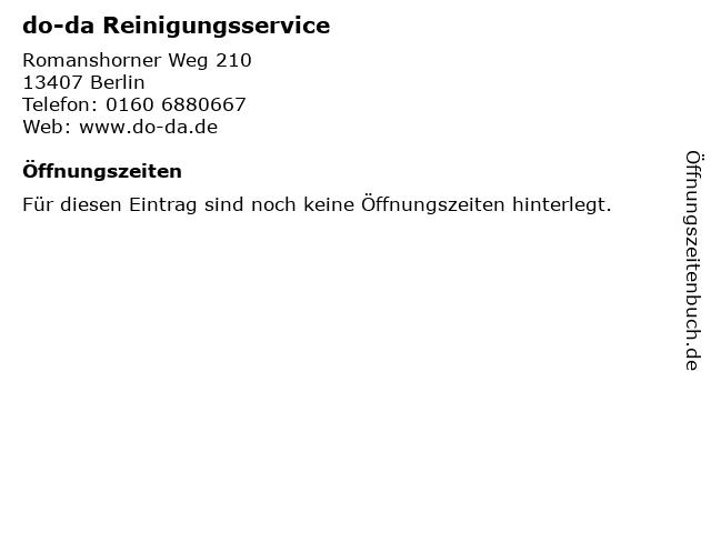 do-da Reinigungsservice in Berlin: Adresse und Öffnungszeiten