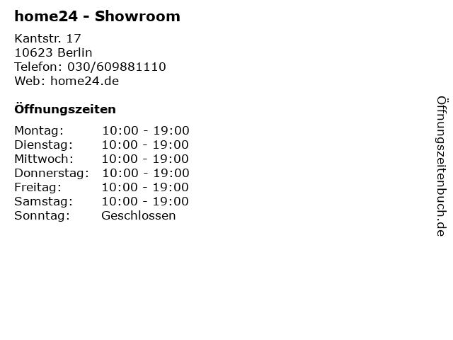 ᐅ öffnungszeiten Home24 Showroom Kantstr 17 In Berlin