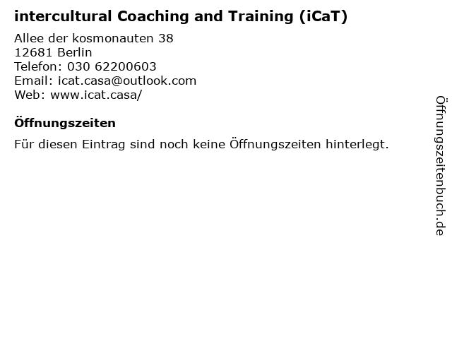 intercultural Coaching and Training (iCaT) in Berlin: Adresse und Öffnungszeiten