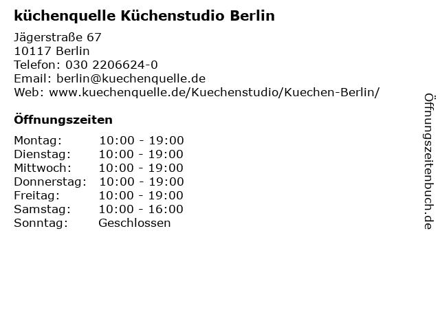 ᐅ Offnungszeiten Kuchenquelle Kuchenstudio Berlin