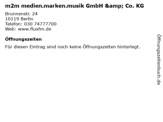 m2m medien.marken.musik GmbH & Co. KG in Berlin: Adresse und Öffnungszeiten