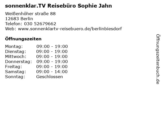 sonnenklar.TV Reisebüro Berlin Biesdorf in Berlin: Adresse und Öffnungszeiten