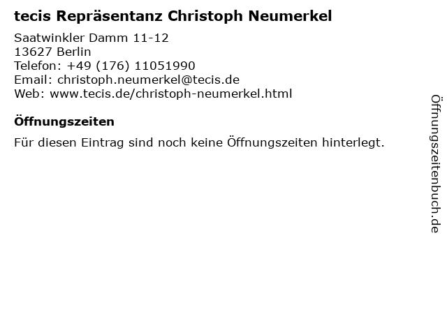 tecis Repräsentanz Christoph Neumerkel in Berlin: Adresse und Öffnungszeiten