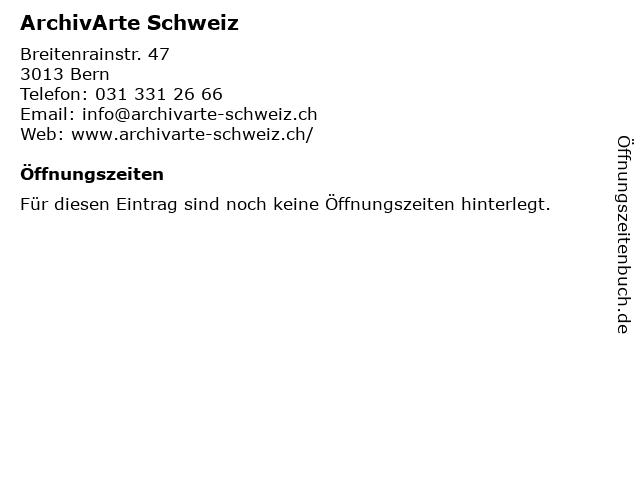 ArchivArte Schweiz in Bern: Adresse und Öffnungszeiten