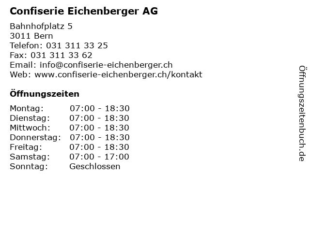 Confiserie Eichenberger AG in Bern: Adresse und Öffnungszeiten