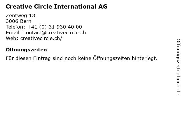 Creative Circle International AG in Bern: Adresse und Öffnungszeiten