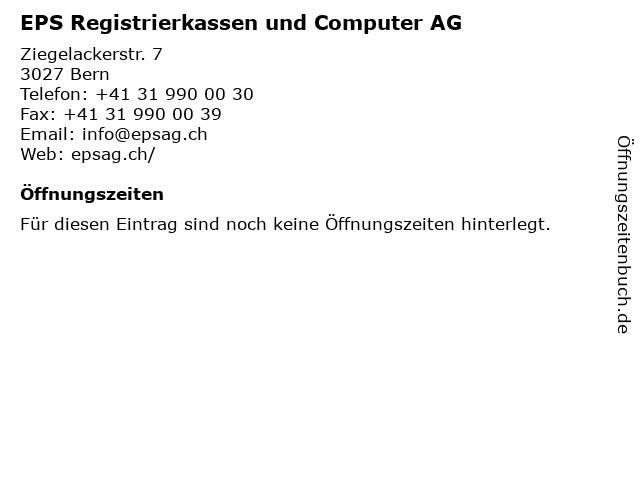 EPS Registrierkassen und Computer AG in Bern: Adresse und Öffnungszeiten
