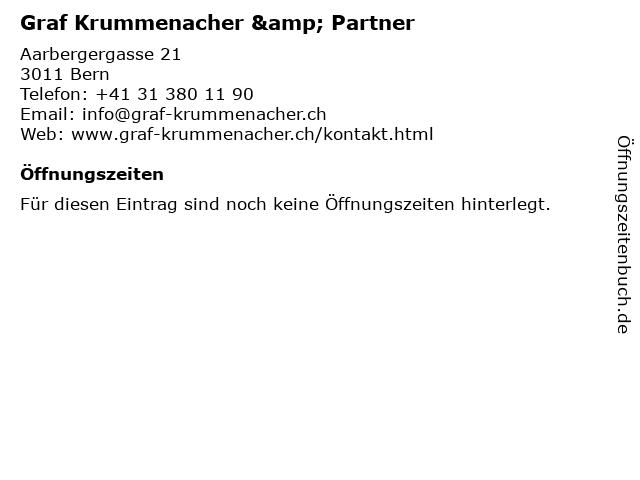 Graf Krummenacher & Partner in Bern: Adresse und Öffnungszeiten