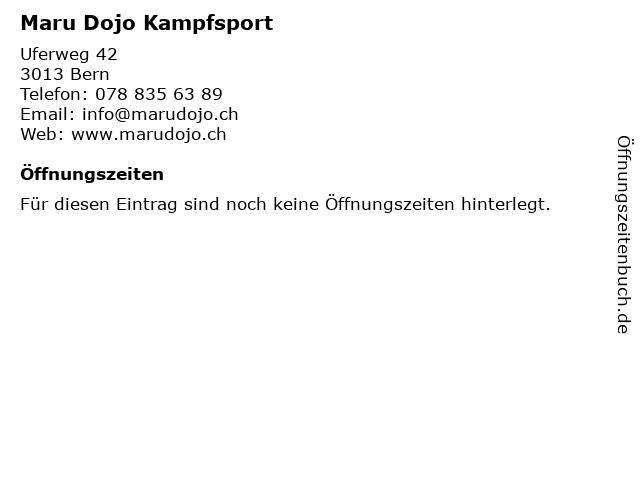 Maru Dojo Kampfsport in Bern: Adresse und Öffnungszeiten