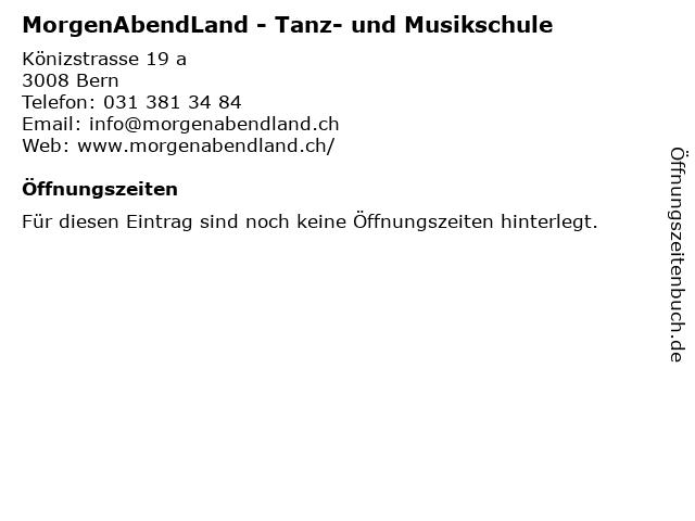 MorgenAbendLand - Tanz- und Musikschule in Bern: Adresse und Öffnungszeiten