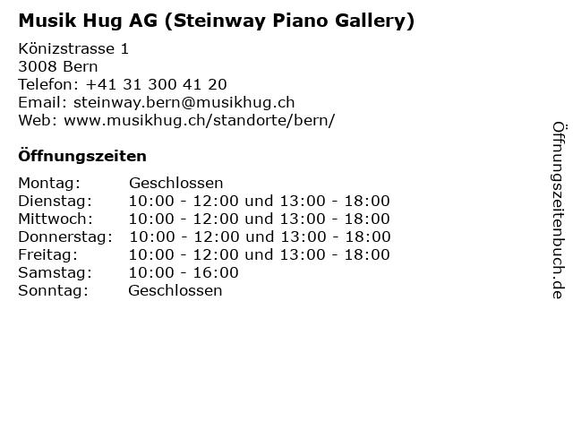 Musik Hug AG (Steinway Piano Gallery) in Bern: Adresse und Öffnungszeiten