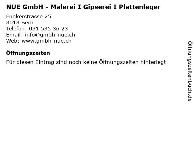 NUE GmbH - Malerei I Gipserei I Plattenleger in Bern: Adresse und Öffnungszeiten