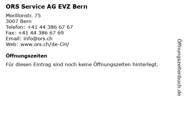 ORS Service AG EVZ Bern in Bern: Adresse und Öffnungszeiten